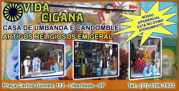 Casa Vida Cigana Loja Artigos Religiosos Umbanda e Candomblé