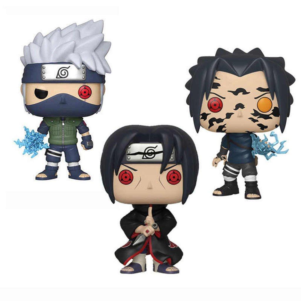 Bonecos Funko Pop Naruto – Sasuke – Kakashi